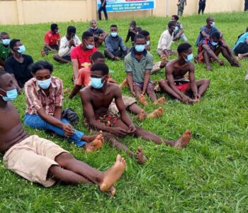 Some-of-the-arrested-126-suspects-in-Benin-on-Wednesday